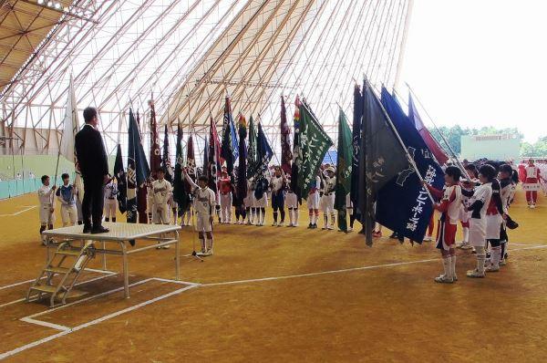 ⑤出場選手を代表し、主将の井口莉加子が選手宣誓を行いました